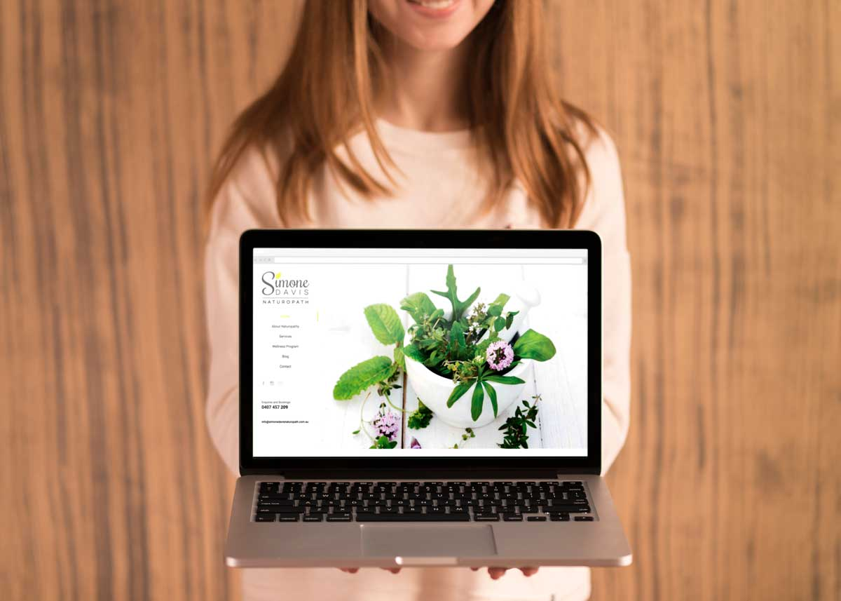 Simone Davis Naturopath | Creative Website Refresh Rouse Hill | Web Design | SEO | Hill District | Sydney | Web Designer | Norwest