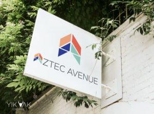 Yik Yak Creative | Aztec Avenue | Branding | Retail Logo Designer | Brisbane Shop | Graphic Design | Geometric Logo | Geometric A | | Shop Fitting | Shop Signage | Banner