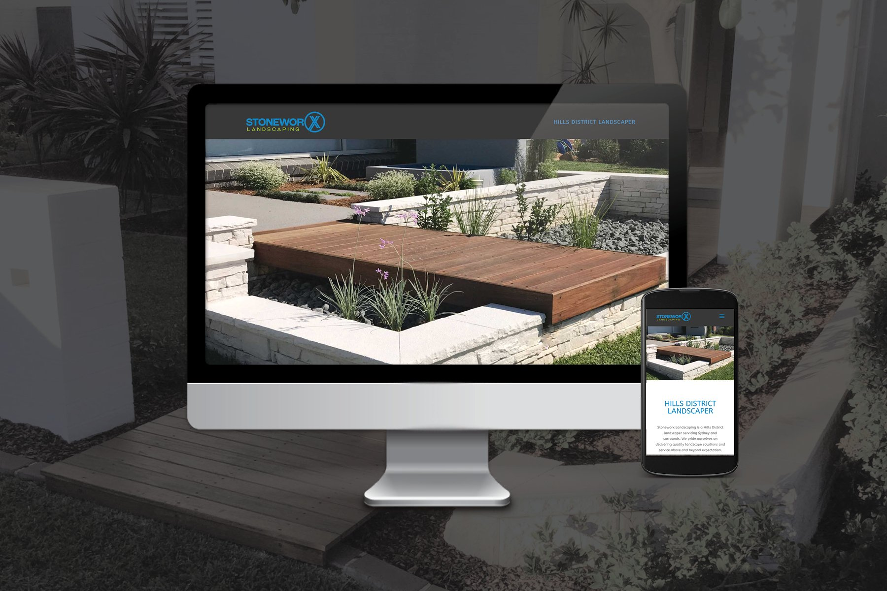 Yik Yak Creative | Stoneworx Landscaping | Tradie | Website | One Page | Cheap | Hills District | Kellyville | Blacktown | Windsor | Hawkesbury | Web Designer