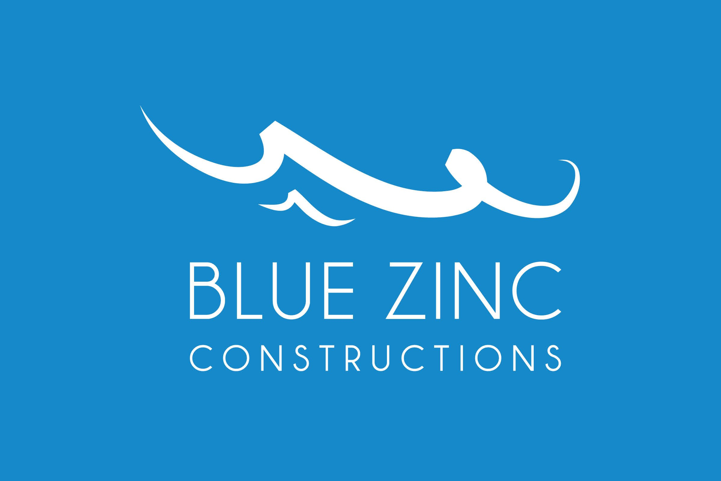 Yik Yak Creative | Blue Zinc Constructions | Construction Company Logo Design | Sydney Web Designer | North Shore Graphic Designer | Hornsby | Building Logo | SEO Website