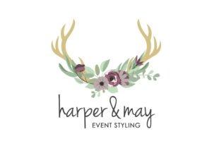 eCommerce Website Hills District   Harper and May Event Stylist   Hornsby   Sydney   Web Designer   Logo Designer   Antler Logo   Floral Logo   Feminine Logo   Yik Yak Creative   Design Agency
