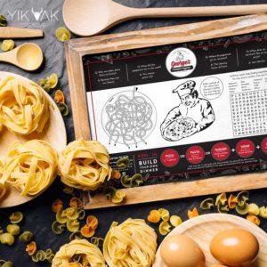 Georges Gourmet Pizza | Banquet Menu | Italian | Restaurant Graphic Design | Branding | Creative | Freelance | Illustrations | Italian Menu Design | Kids Menu | Fun | Italian Pizza Jokes | Pizza Shop