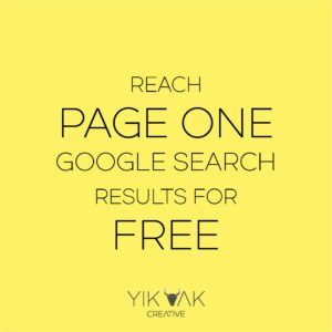 Yik Yak Creative | Page One | Google Search Results | Free | Cheap | Organic | SEO | Adwords | Rank | How To
