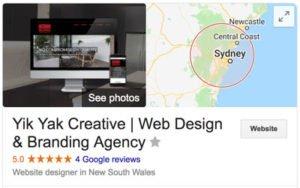 Yik Yak Creative | How To Hire Web Designer Reviews | Google My Business | Hills District | Sydney