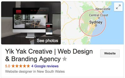 Yik Yak Creative | How To Hire Web Designer Reviews | Google My Business | Hills District | Sydney