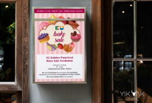 KU | Galston | Preschool | Bake Sale | Kids | Poster | Graphic Design | Galston | Hornsby | Sydney | Cake | Bakery | Flyer | Marketing