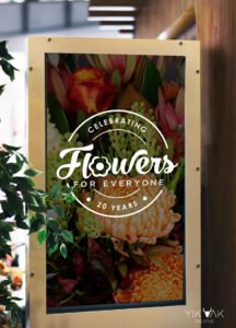 Yik Yak Creative | Flowers For Everyone | Florist | Graphic Design | Anniversary Stamp Logo Company | Birthday | Marketing Campaign | Poster | Social Media Marketing | Silverwater | Parramatta | Sydney