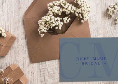 Cheryl Marie Bridal Monogram Symbol Logo Design