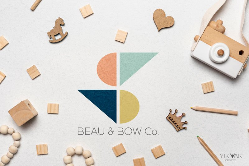 Kids Logo Designer | Beau and Bow Co. | Sydney | Kids Logo Design | Web Design