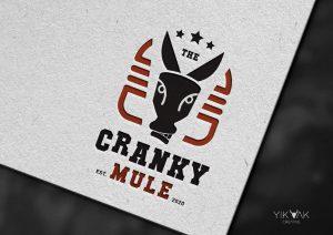 Cranky Mule | Takeaway Restaurant | Cafe | Donkey | Bull | Retro | Burger Shop Logo Design | Hornsby | North Shore